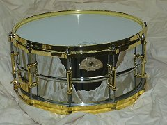 Chrome Plated Brass Shell for Ludwig
