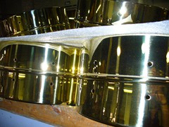 Polished Brass Snare Drum Shells