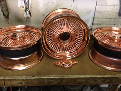 Polished Copper Wheels